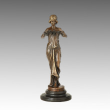 Female Collection Small Size Bronze Sculpture Fairy Decor Brass Statue TPE-893/895/896