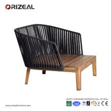 Chaise club en bois avec accoudoirs en teck pour l'extérieur OZ-OR073