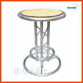 Runde MDF und Aluminium Bar Tisch für Bar Möbel Barhocker