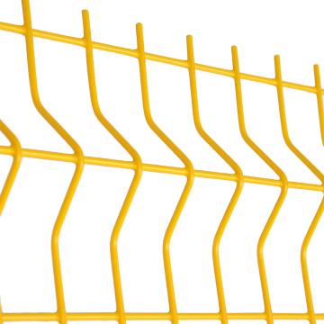 Cerca de malla de alambre soldada con autógena galvanizada 3d de la pared del límite