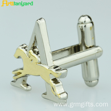Fashion Customized Cufflink With Raised Logo
