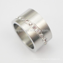Make Your Own Design 316L Stainless Steel Rings With Diamonds