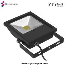 Luz exterior ultra magro do projetor do diodo emissor de luz 50W, jardim ao ar livre da luz de inundação do diodo emissor de luz da ESPIGA