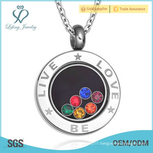 Engraved silver round gay pride pendant,silver gay couple pendant