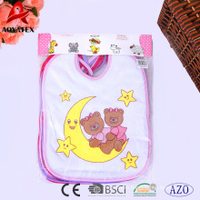 65%cotton 35%polyester 4pc baby bibs