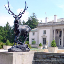 metal bronze garden decoration skyfall deer statue for sale