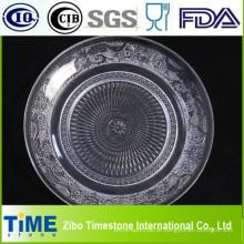 Runde geprägte Glasfruchtplatte (GP001)
