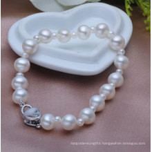 Freshwater Cultured Pearl Bracelet, Round, 3-7mm