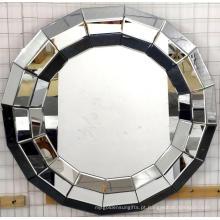 Espelho de suspensão do MDF do espelho da forma redonda 3D