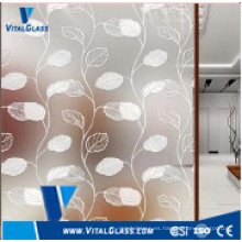 4 mm, 5 mm, 6 mm manchado de pintura decorativa de vidrio revestido de arte