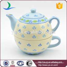 YStp0004-0 100% hand painted ceramic tea set for one in European style