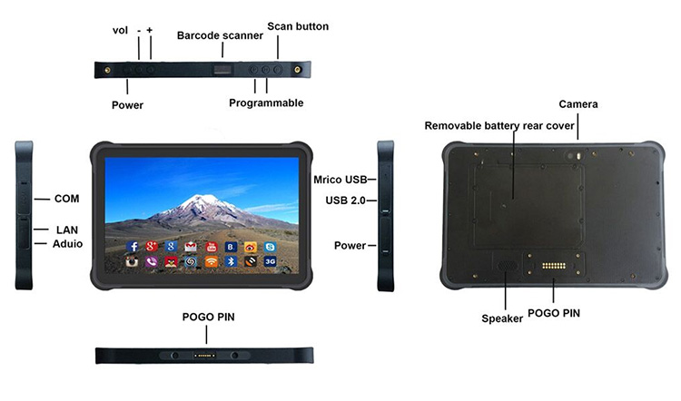 10.1 inch rugged tablet