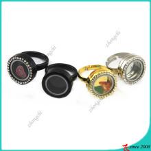 Atacado Hot design flutuante Locket anel (LR16041213)