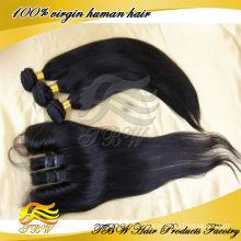 100% bundles de cheveux vierges mongol non transformés avec fermeture à lacets