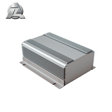 invólucro de alumínio anodizado prata gabinete de extrusão eletrônica