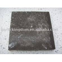 Antigo pavimento de pedra-ácido clorídrico tratado