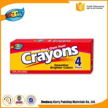 Reasonable & acceptable price Kids Art 4 Colours children wax crayon