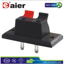 Daier WP2-3 L = 34.9mm 2P Connecteur de borne de câble rouge et noir