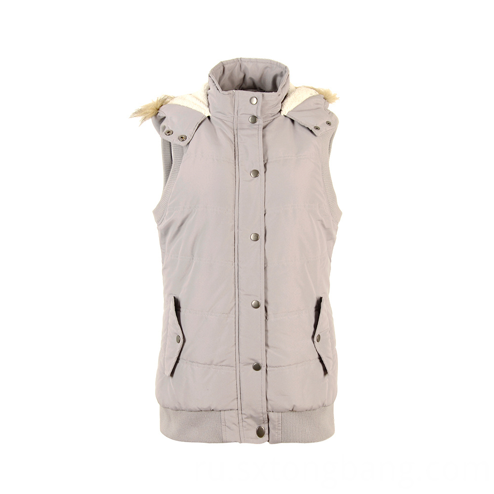 Casual Padded Polyester Sleeveless Vest