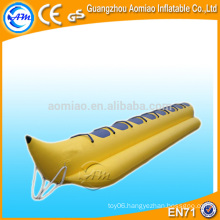 High quality inflatable banana boat, funny inflatable boat/cheap inflatable boat