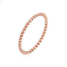 Новое Прибытие Нержавеющей Стали Розовое Золото Веревку Дизайн Формы Кольца