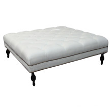 Big White Ottoman for Hotel Furniture