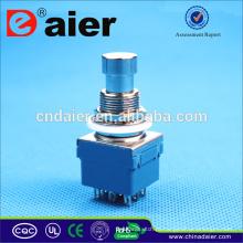 Daier 3pdt interruptor de pedal / pedal elétrico interruptor / botão interruptor de pé