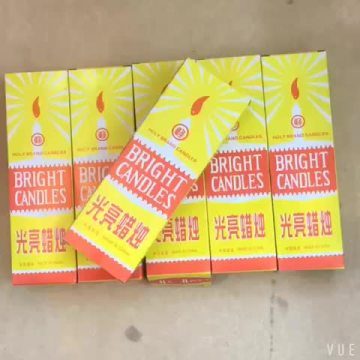 Ghana Market 38g Yellow Box Candles 8x30Boxes