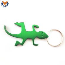 Metal custom animal shape bottle opener keyring