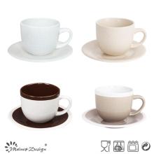 8oz Cup and Saucer Seesame Glaze Design