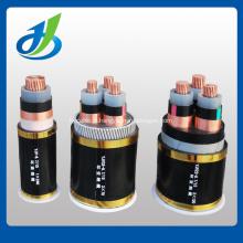 Câble d'alimentation souterrain isolé par noyau de XLPE / PVC de 6KV 3