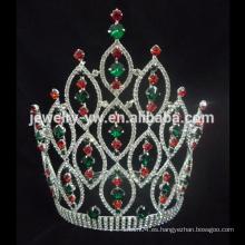 Alibaba venta caliente grande grande gran representación cristalina corona de tiara