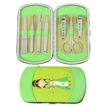 Lovely Japanese Doll 7 pcs Set de manicura de uñas