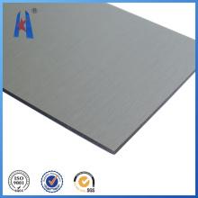 Painel de plástico de alumínio em alumínio de prata Folhas ACP