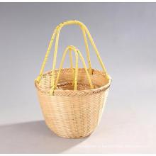 High Quality Handmade Natural Bamboo Shopping Basket (BC-NB1029)