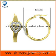 Shineme Jewelry High Quality Good Price Plating Gold Earring with CZ