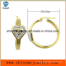 Ювелирные изделия Shineme высокое качество хорошее цена золота Плакировкой серьги с цирконом