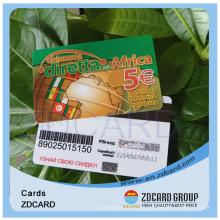 Carte de visite en plastique transparent de PVC