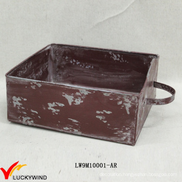 Drawer Style Chic Colored Rustic Planter Boxes Metal