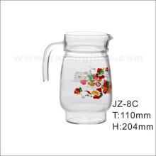 Pichet en verre avec autocollant fleur (JZ-8C)