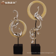 high quality factory custom made abstract peacock shaped home decor figure
