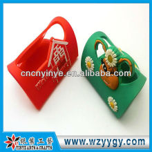 Fashion promotional soft pvc embossing phone holder