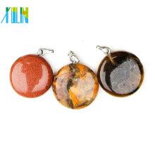 A ágata de 21mm perla o pendente redondo da pedra preciosa semi para a venda por atacado