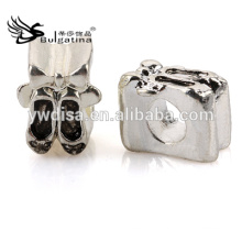 Shoes Shape Metal Beads With Antique Silver Plated Wholesale Metal Beads 2014 New Arrival