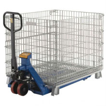 Folding Stackable Storage Wire Mesh Basket Contain