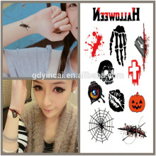 Thème d'Halloween, prix concurrentiel de tatouage de fournitures