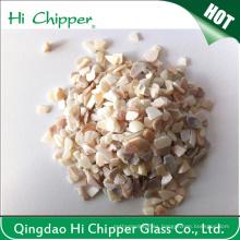 Decoración mariscos triturados Shell de vidrio