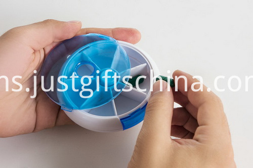 Promotional Plastic 7-Day Rotate Pill Box (4)