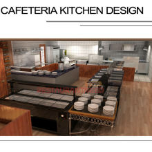 Shinelong Customized Projekt Cafeteria Küchendesign