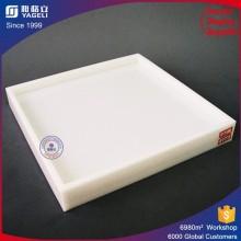 Mehrzweckweiß Acryl Tablett für Lebensmittel-Display / Sammlung